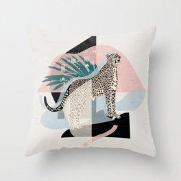 Majesty Cheetah I. Throw Pillow