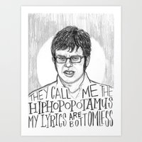 flight of the conchords Art Prints featuring Jemaine. [Flight of the Conchords] by Jillian Kaye