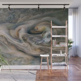 Luminous clouds of Jupiter mission flyby telescopic photograph Wall Mural