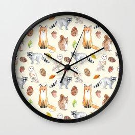 Woodland Critters Wall Clock