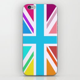 Union Jack/Flag Design Multicoloured iPhone Skin