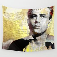 actor Wall Tapestries featuring James D. by Ganech joe