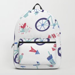 Love riding Pattern Backpack