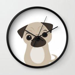 Hi Pug Wall Clock