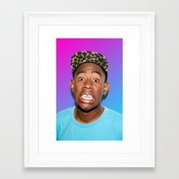 tyler spangler Framed Art Prints featuring Tyler! by Trash Boat