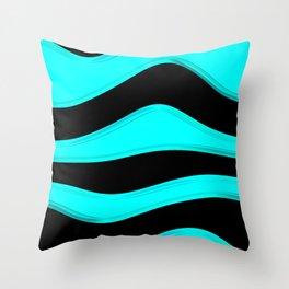 Hot Wavy C Throw Pillow