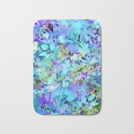 Sky Blue Poppies Bath Mat