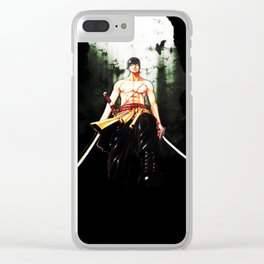 Roronoa Zoro Clear iPhone Case
