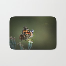 An American Lady Buttefly Bath Mat