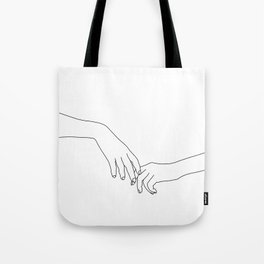 Hands line drawing illustration - Daily Tote Bag