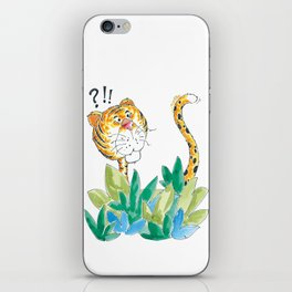 Spots, your tail is up! iPhone Skin