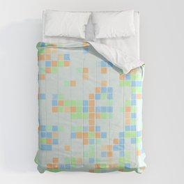 Colored Pool Squares Comforters