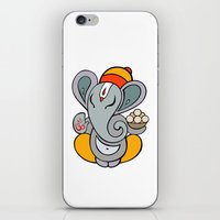 hindu iPhone & iPod Skins featuring Hindu God Ganapati (Ganesha). Hand drawn illustration. by Katyau