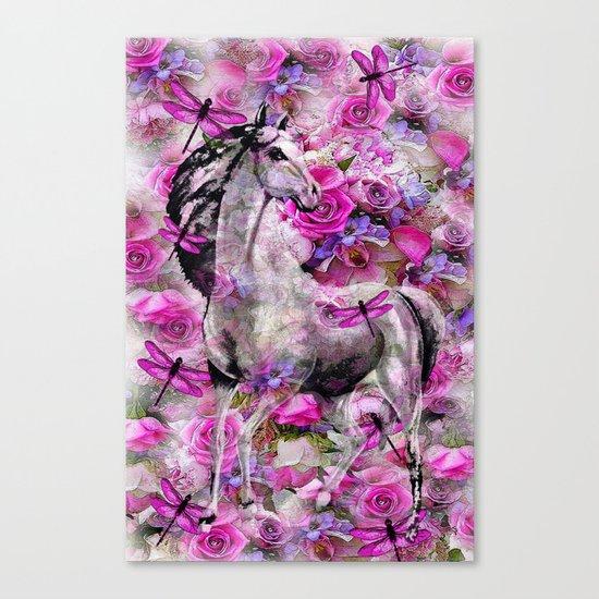 Horse in the Garden Canvas Print