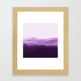 Amethyst Watercolor Crush Framed Art Print