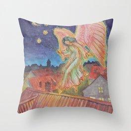Good Night Angel Throw Pillow