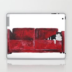 cat in a red sofa  Laptop & iPad Skin