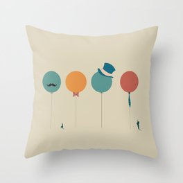 HipsterBaloons Throw Pillow