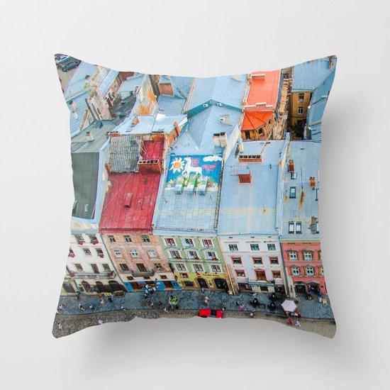 panorama Lviv Throw Pillow