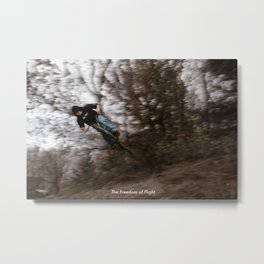 The Freedom of Flight - Bicycle Leap Metal Print