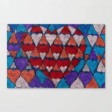 Op Heart Canvas Print
