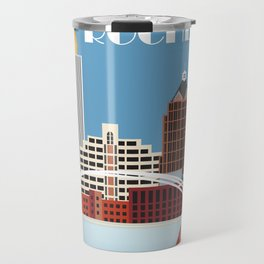 Rochester, New York - Skyline Illustration by Loose Petals Travel Mug