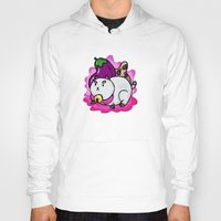 bee and puppycat Hoodies featuring A Chubby Puppycat by Kristin Frenzel