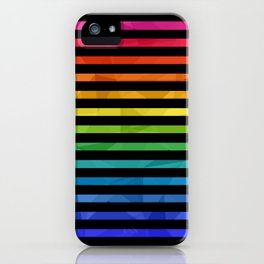 BLACK + RAINBOW iPhone Case