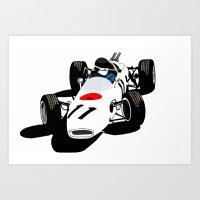 honda Art Prints featuring Honda RA272 by Arch Duke Maxyenko