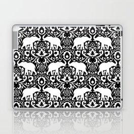 Elephant Damask Black and White Laptop & iPad Skin
