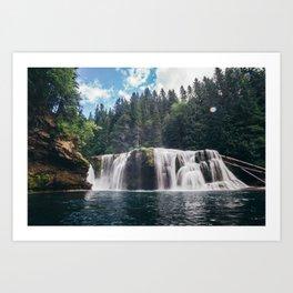 Lower Lewis River Falls Art Print