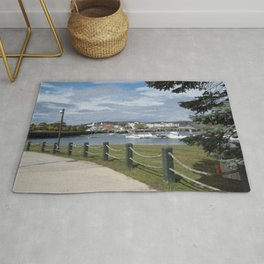 Harbor in Rockland,Maine Rug