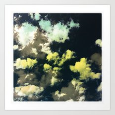 Puffy Clouds Art Print