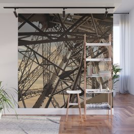 France Photography - Inside Of The Eiffel Tower Wall Mural