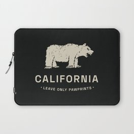 California: Leave Only Pawprints Laptop Sleeve