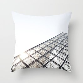 Peak of the Louvre Throw Pillow