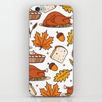thanksgiving iPhone & iPod Skins featuring thanksgiving by Ceren Aksu Dikenci