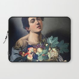 Caravaggio - Boy with a Basket of Fruit Laptop Sleeve