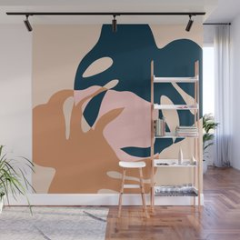 Minimal Monstera Leaves Duo Wall Mural