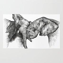 elephants Rug