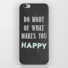 Quote, inspiration chalk board  iPhone & iPod Skin
