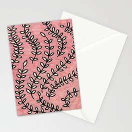 Pink Vines Stationery Cards