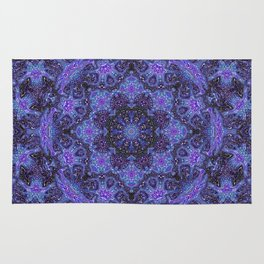 Blue and Purple Kaleidoscope 2 Rug