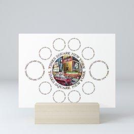 Times Square New York City (multi badge emblem) Mini Art Print