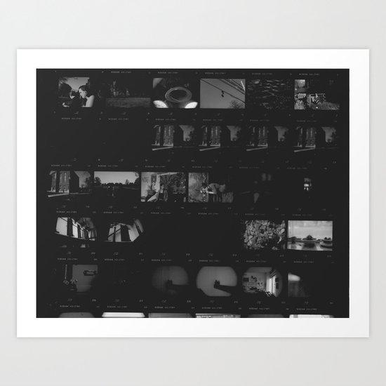 Contact Sheet 2 Art Print