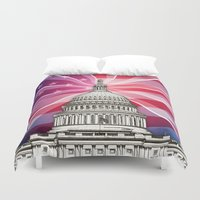 politics Duvet Covers featuring The World of Politics by politics