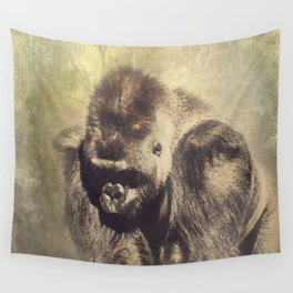 Gorilla in the Mist Wall Tapestry