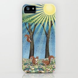 sunshine squirrels iPhone Case