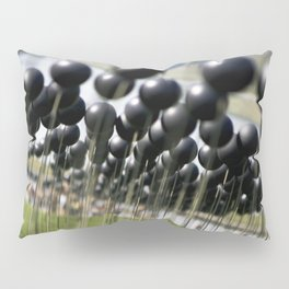 Parisian Photograph Outdoor Art Installation Shinny Black Balls  Pillow Sham