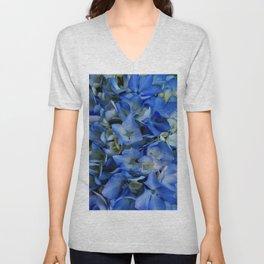 Blue Hydrangea Luv Unisex V-Neck